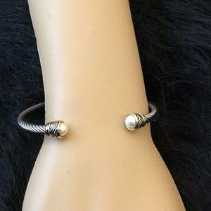 """Newlist! Stainless 7"""" Twisted Cable Bracelet"""